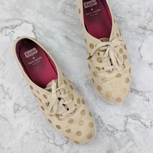 Kate Spade | Canvas Gold Dot Ked Sneaker 8.5